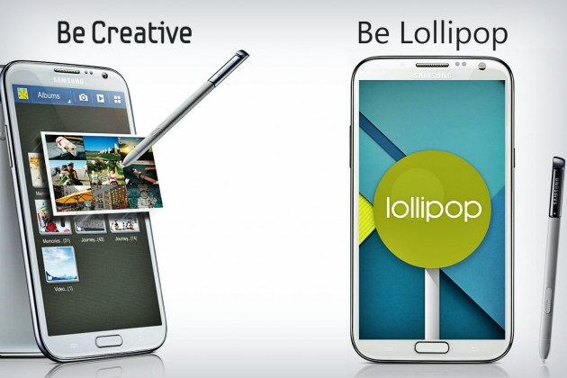 android 5.0 lollipop pe galaxy note 2