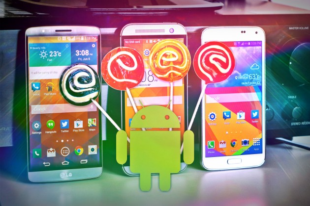 android lollipop samsung lg htc