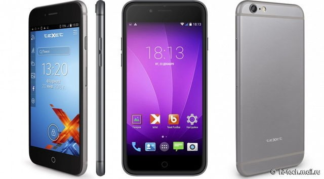 Şi ruşii demonstrează că se pricep la lansat clone de iPhone 6 prin Texet iX-maxi