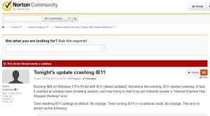 Un update la Norton Antivirus a stricat Internet Explorer. Cum remediaţi problema?