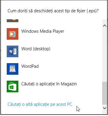 Deschide fisiere necunoscute in Windows