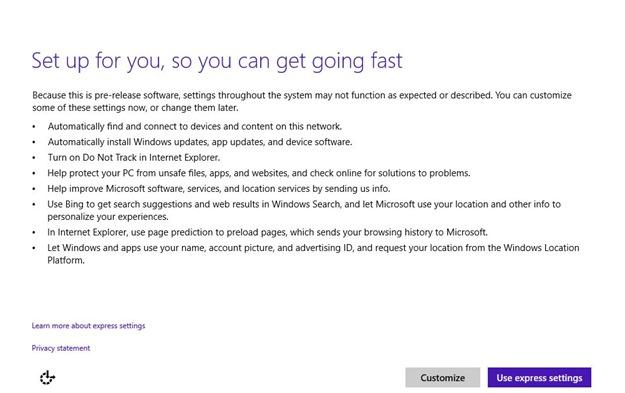finish instalare Windows 10 Technical Preview