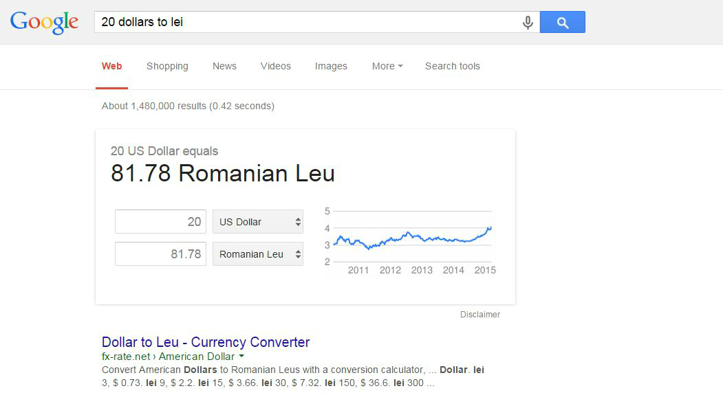 google convertor