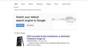 Google vrea să vă convingă să renunţaţi la Yahoo în Firefox