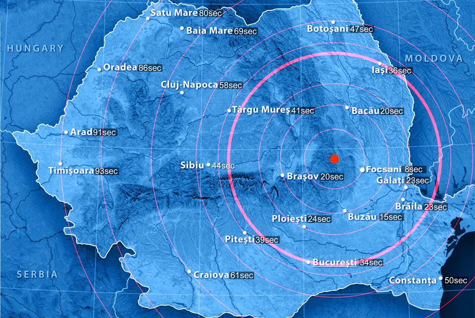 romania alerta cutremur harta