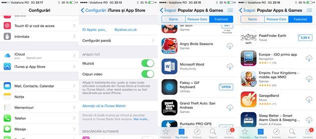 Iphone Aplicatii cumpărate din AppStore