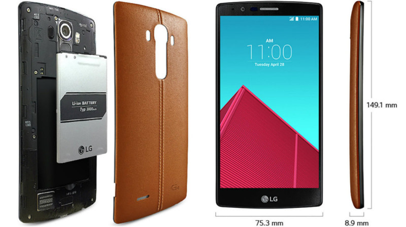LG G4 capac baterie si dimensiuni