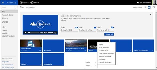 Microsoft OneDrive Web