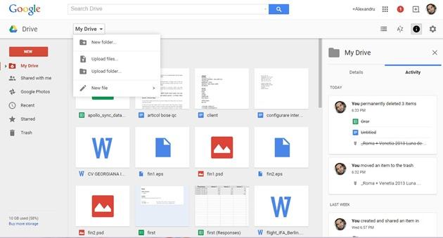 ce poti face cu Google Drive desktop