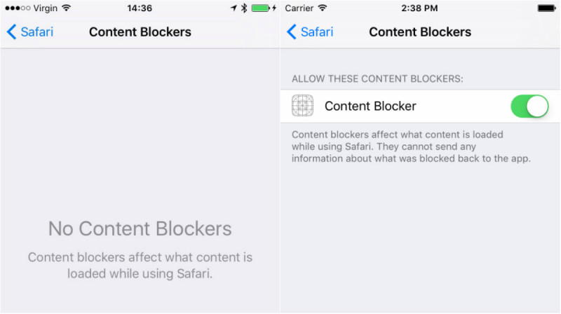 Blocare reclame in Safari in iOS 9