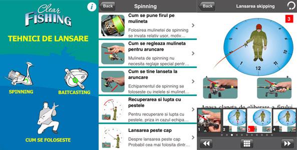 cele mai bune aplicatii de pescuit tehnici de lansare rapitori