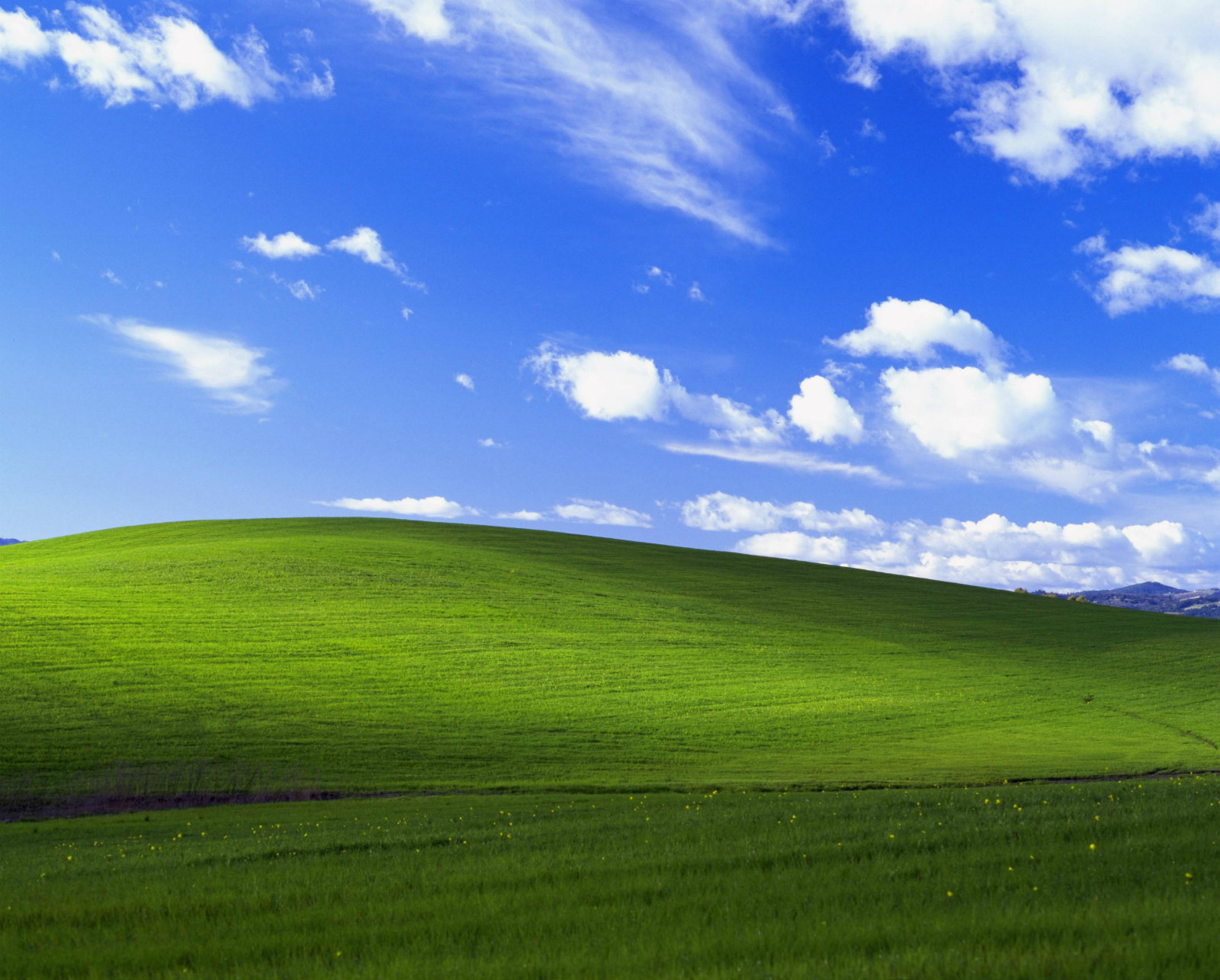 Fotografia Bliss din Windows XP