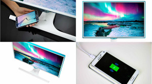Monitorul care-ncarcă telefonul: Samsung lansează modelul SE370 pentru așa sarcină