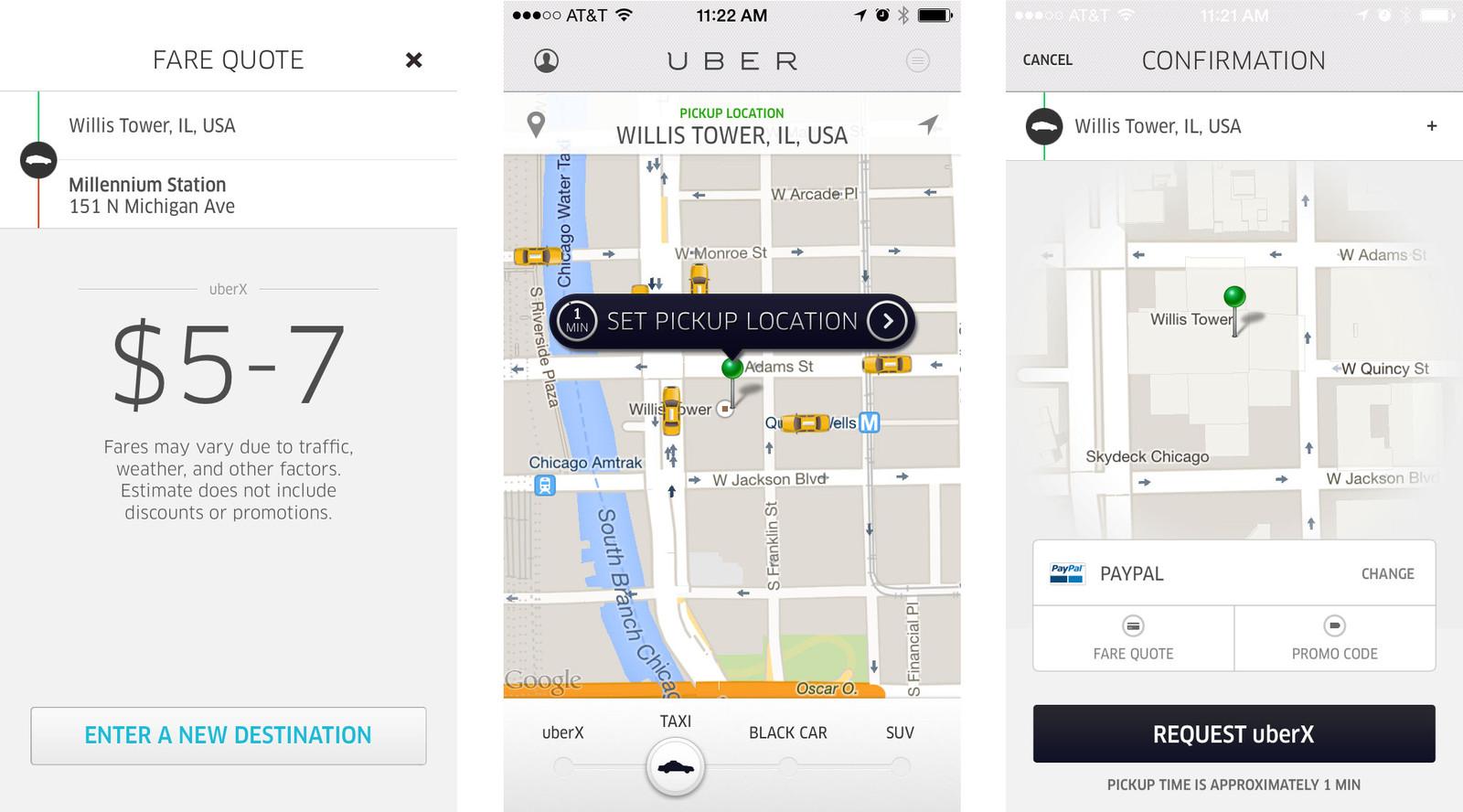Aplicații pentru vacanță – Uber