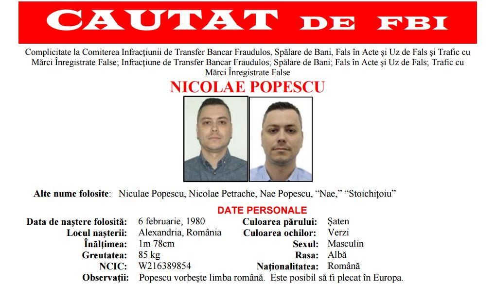 """FBI îți dă un milion de dolari dacă pui mâna pe acest """"hacker"""" român"""