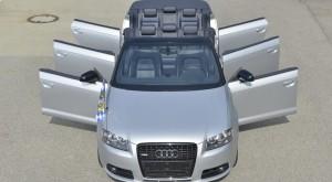 """Șase uși pe un Audi A3 Cabriolet sau cum transformi o """"buburuză"""" într-o limuzină"""