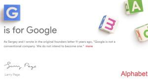 Google s-a reinventat complet în Alphabet şi vine cu un nou CEO