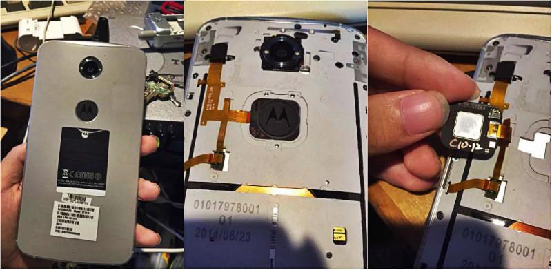 Prototip de Nexus 6 cu cititor de amprenta