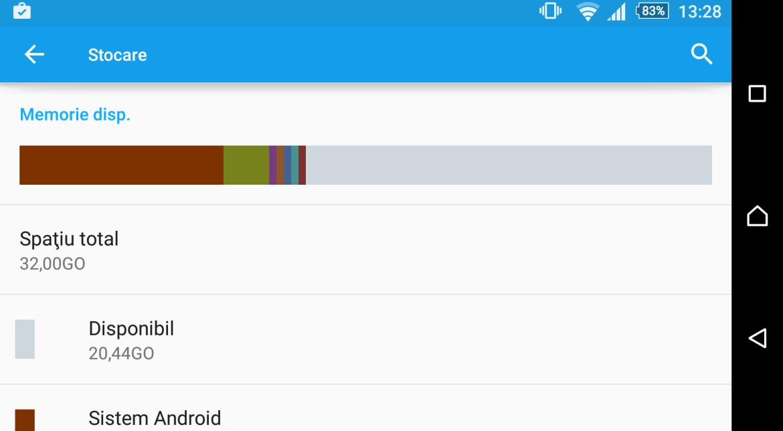 Spatiu de stocare Android