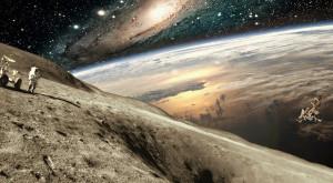 Luna se micşorează, iar Pământul o ajută