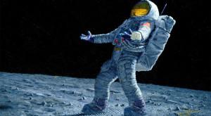 Al patrulea om care a ajuns pe Lună e şi un pictor extraordinar