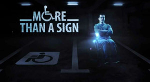 Hologramele oamenilor cu dizabilităţi te vor opri să parchezi pe locurile lor
