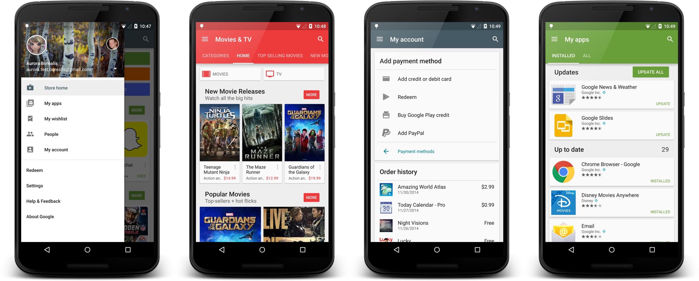 Google-Play-Store-my account interfata