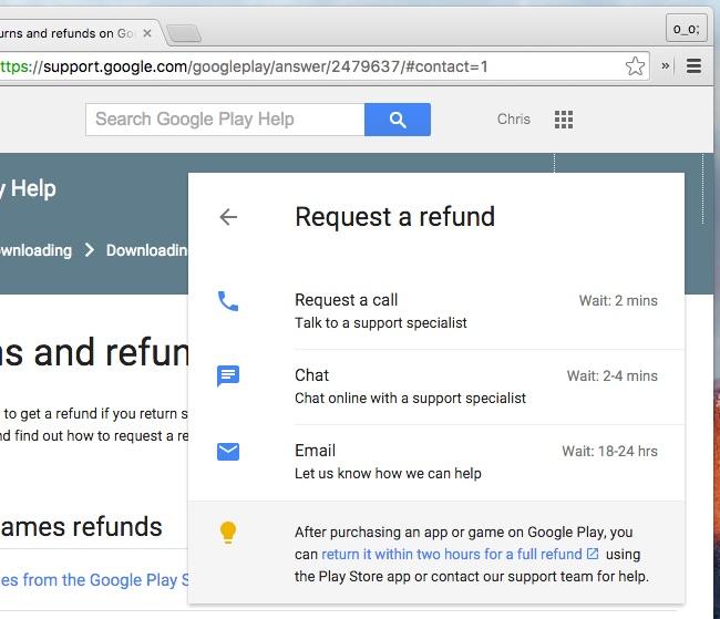 Google Play serviciu clienti