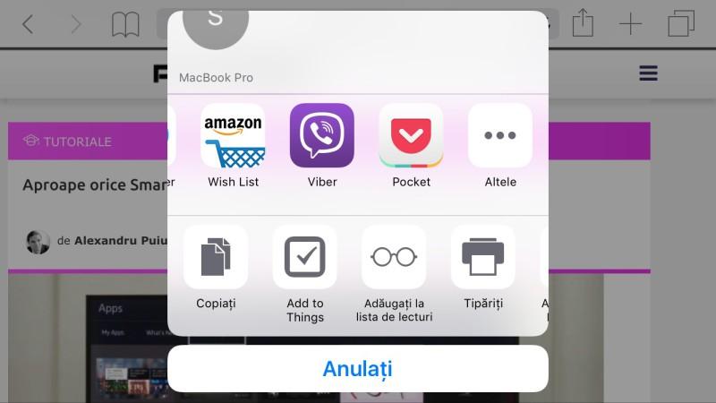 Pocket export pagina internet offline iphone și android