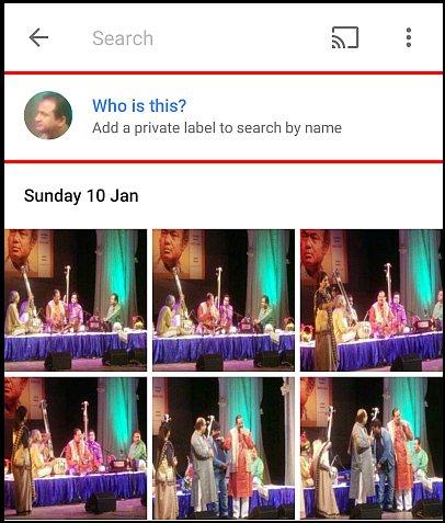 Google Photos etichete nume