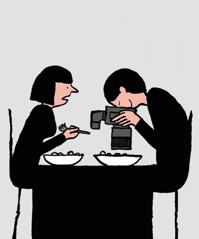 Masa - ilustratie de Jean Jullien