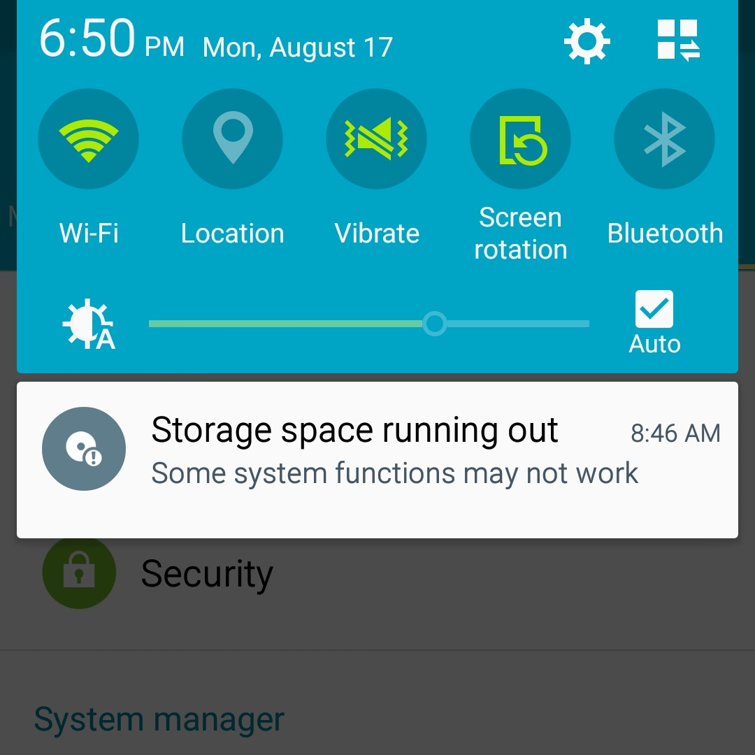 Android spațiu problema