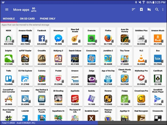AppMgr III ce aplicatii pot fi mutate pe card