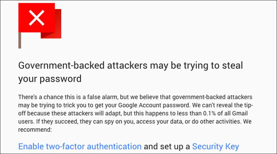 Google avertizeaza atacurile guvernamentale