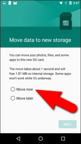 muta pe card aplicații și date