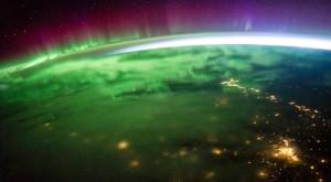 Aurora boreală se vede mai bine de pe Stația Spațială Internațională