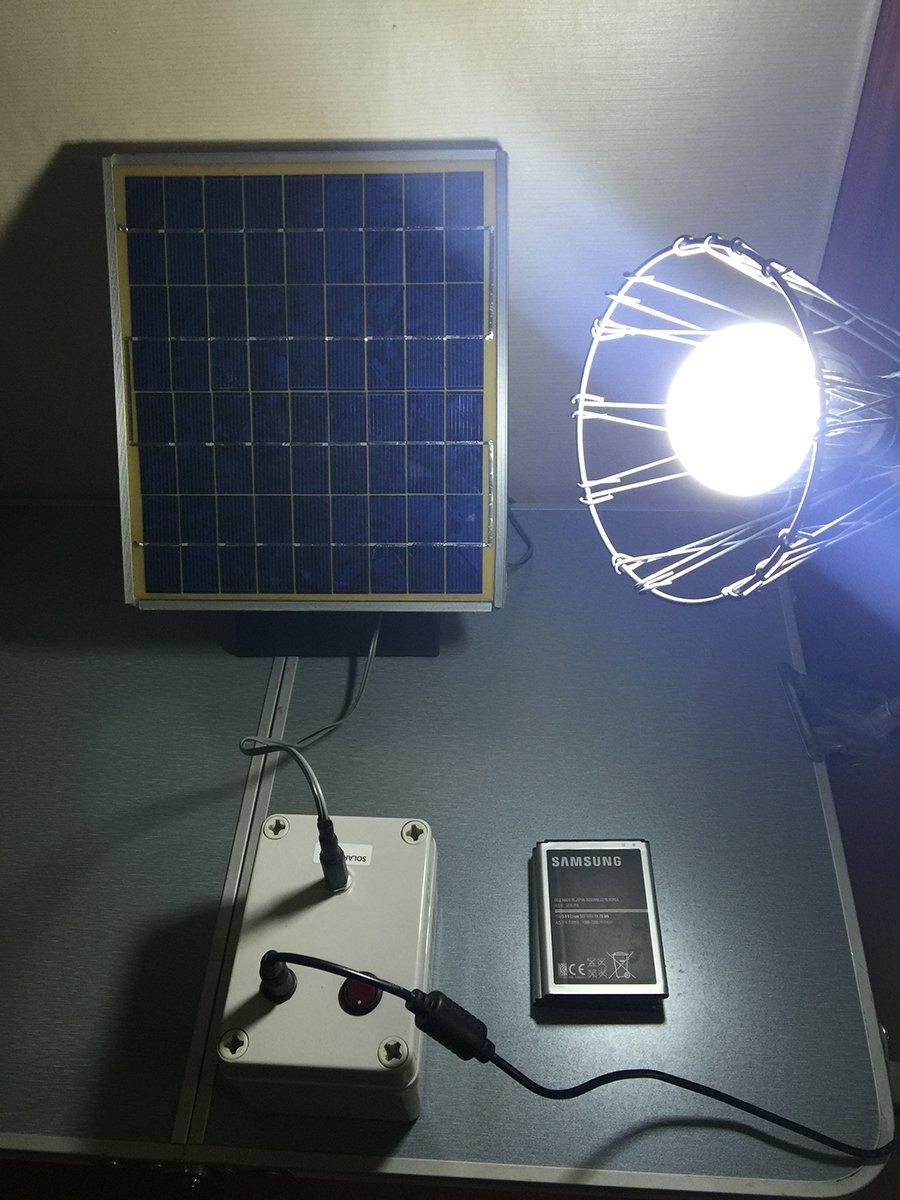 Baterie - lampa solara