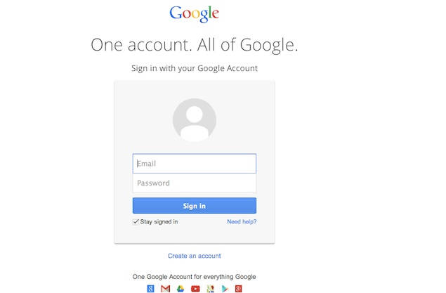 Browser Incognito Google-new login-page