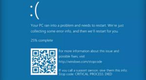 """Microsoft adaugă coduri QR ecranului albastru """"al morții"""""""