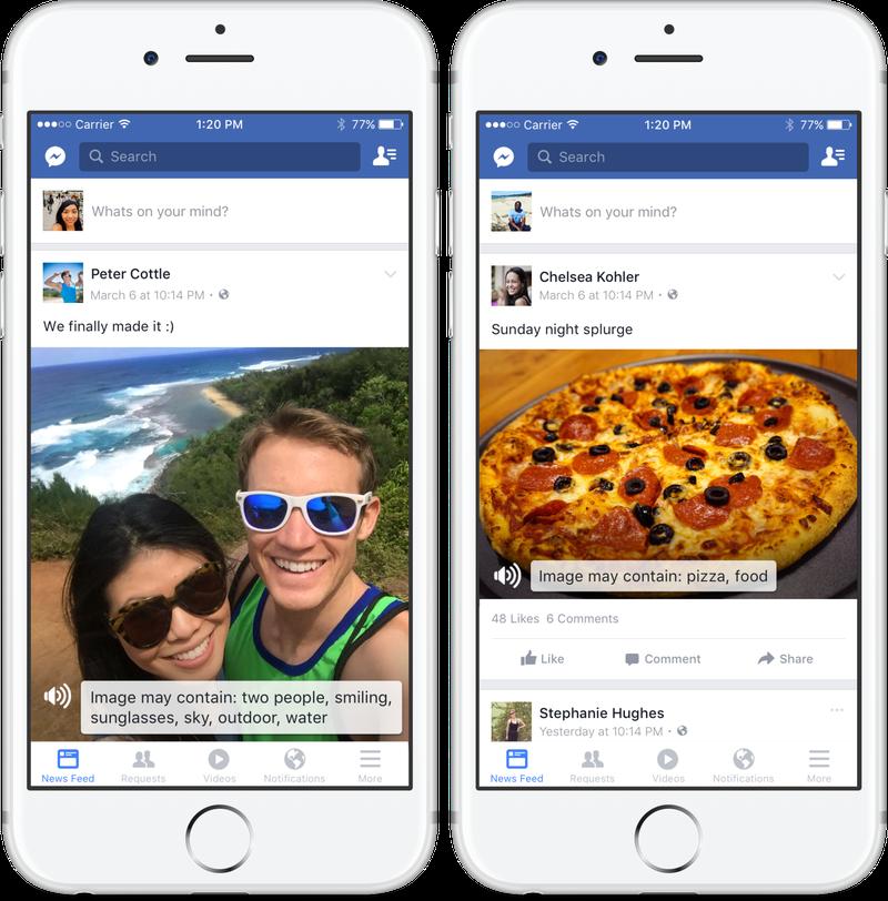 Inteligenta artificiala a Facebook - ajutor pentru orbi