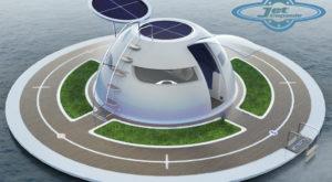 Acest OZN plutitor ar putea fi conceptul de casă a viitorului