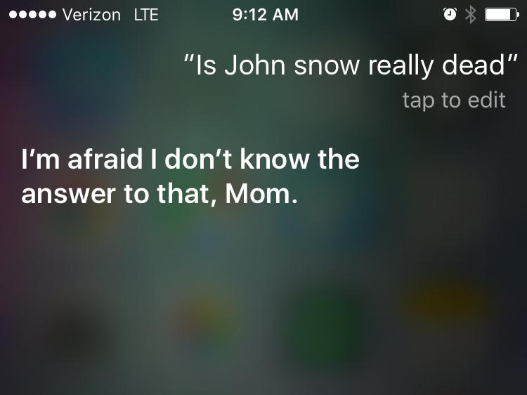 Siri - este Jon Snow mort (2)
