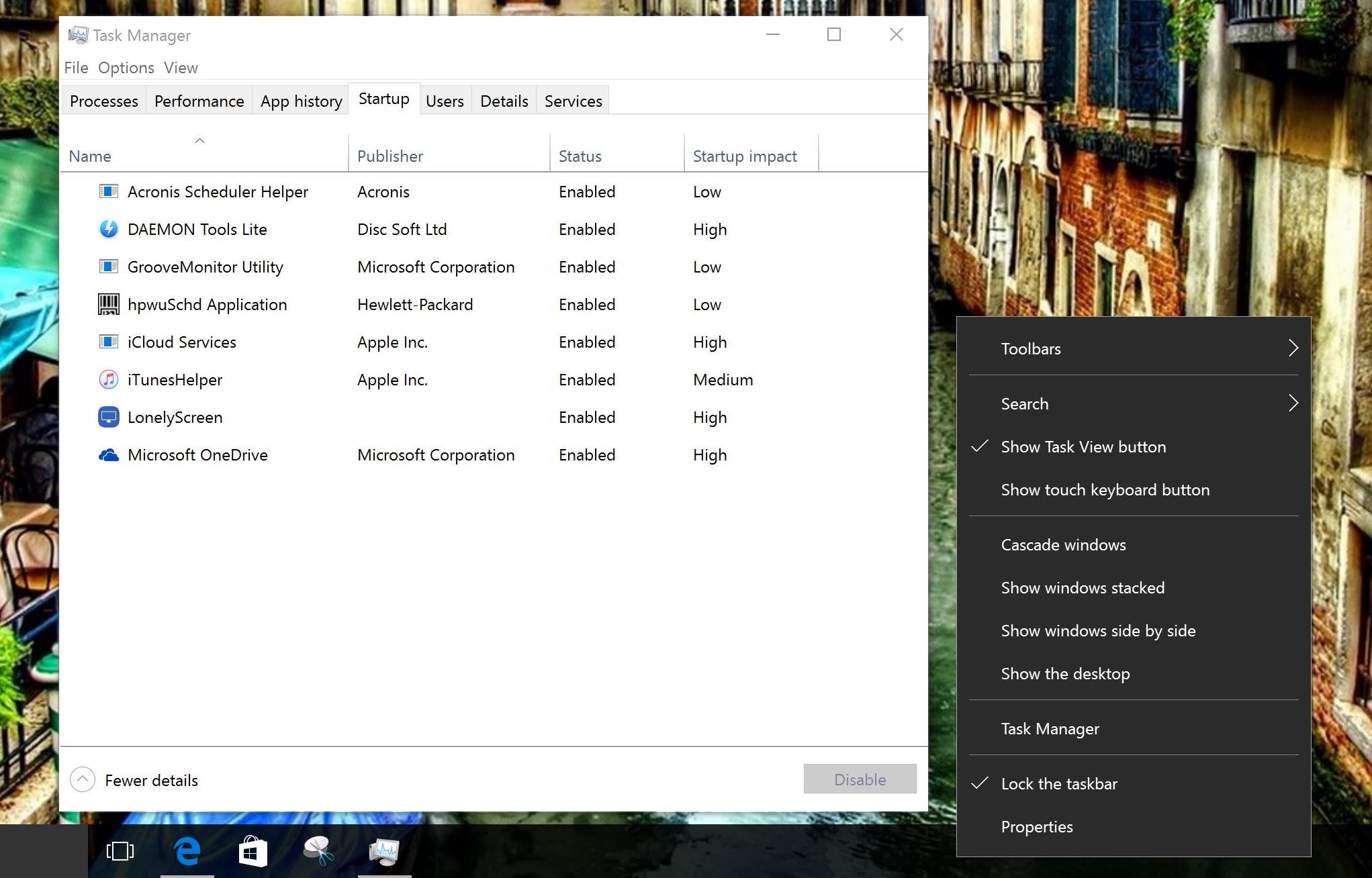 Windows 10 resurse hardware Startup