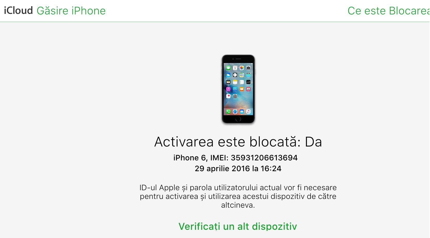 blocare activare activation lock find my iPhone