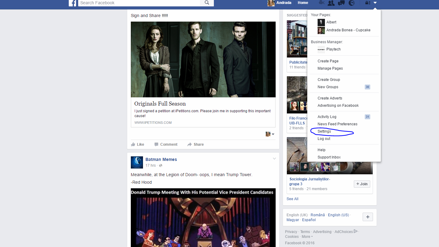 Arhiva Facebook