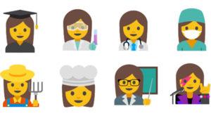 Google propune un set de emoji-uri prin care susține egalitatea între sexe
