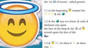 Acum există o aplicație prin care poți traduce Biblia în emoji-uri