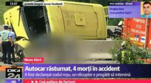 Revista presei: Accident de autocar în Brașov soldat cu patru decese