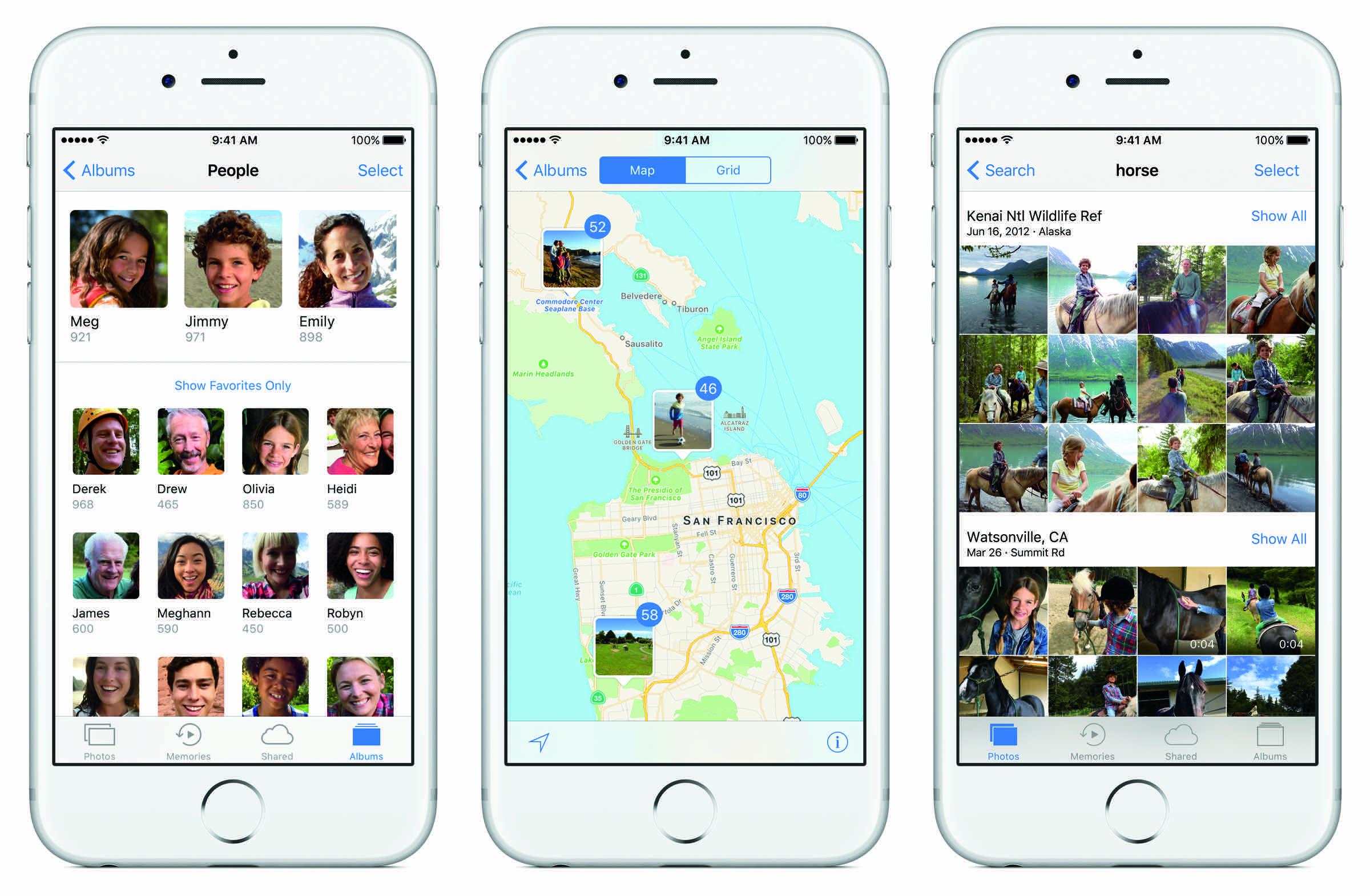 Apple iOS 10 Photos management fotografii
