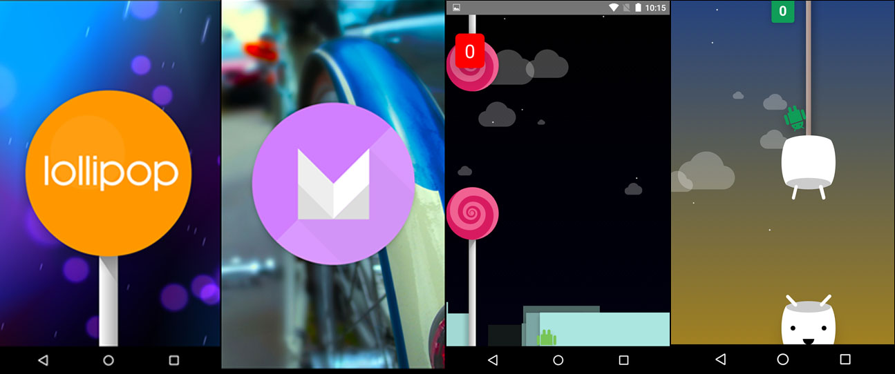 Android Lollipop Marshmallow Easter Egg